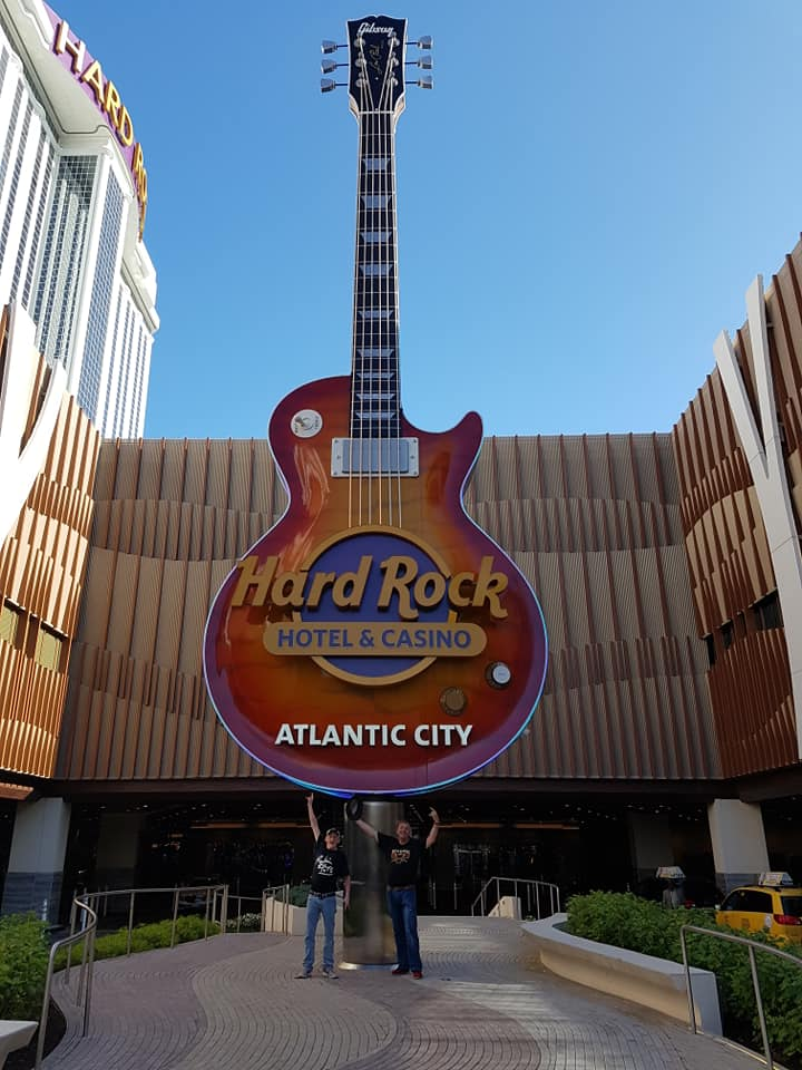 Stair and Jack at the Hard Rock Cafe