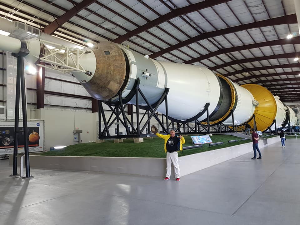 Stair and Saturn 5 rocket