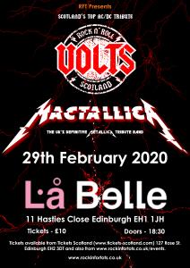 Volts/Mactallica/Omen @La Belle